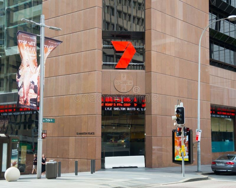 七一般叫作海峡的网络七是第二个澳大利亚商业自由对空气电视网 免版税库存图片