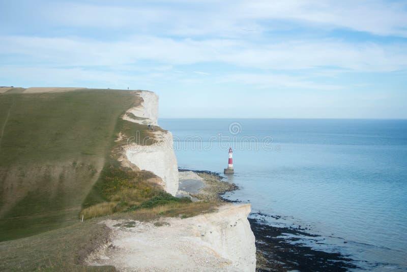 七个姐妹国家公园和象海滨顶头灯塔 免版税库存照片