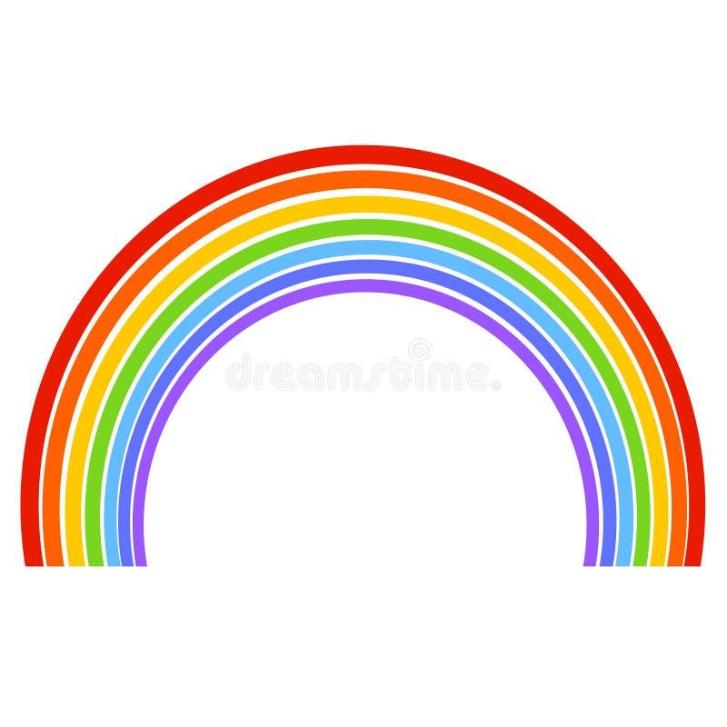 七个颜色五颜六色的彩虹,颜色样式 向量例证