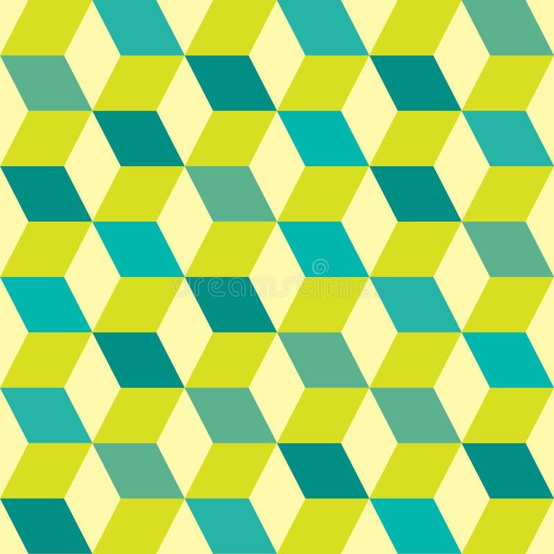 七十绿色无缝 向量例证