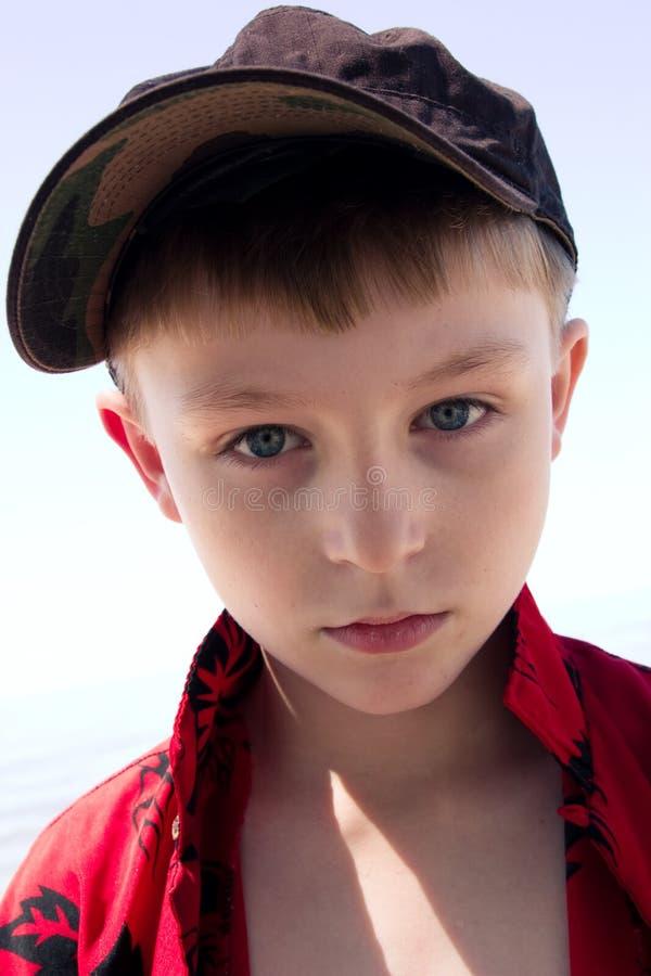 七年老的纵向 免版税图库摄影