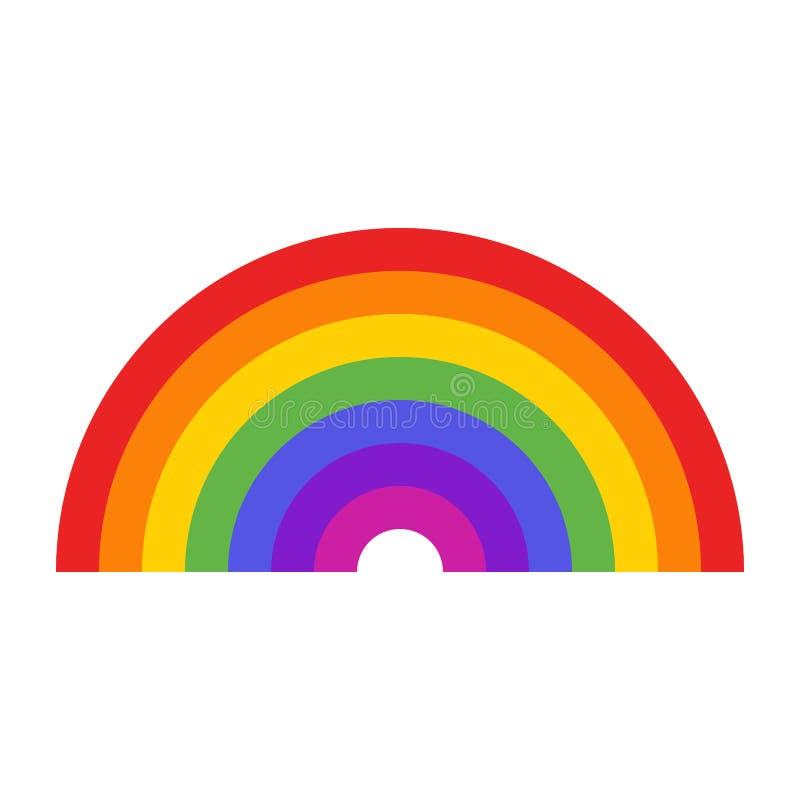 七种颜色彩虹象 库存照片