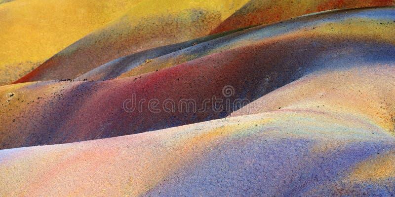 七色的土地 毛里求斯 库存图片