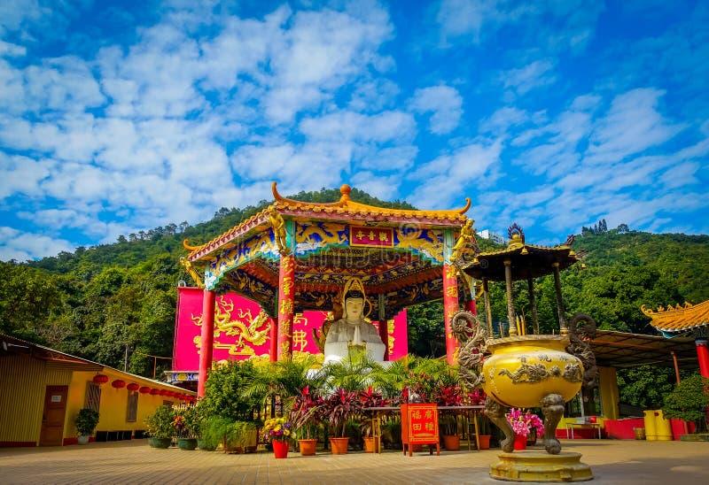 万佛寺在沙公锡,香港,中国 免版税库存照片