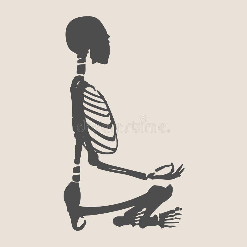 万圣夜人骨骼 免版税库存照片