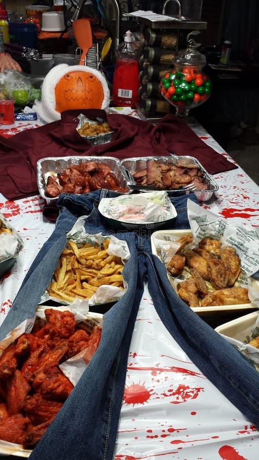 万圣夜党食物 免版税库存照片