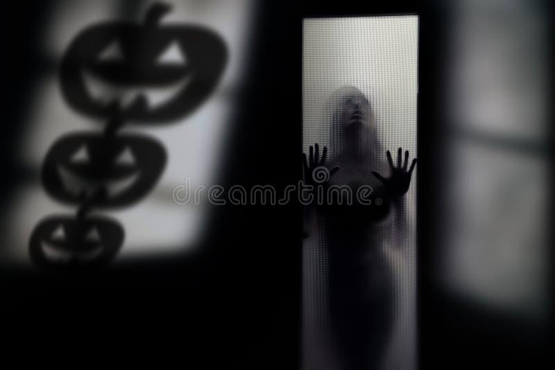 万圣夜南瓜的阴影 免版税图库摄影