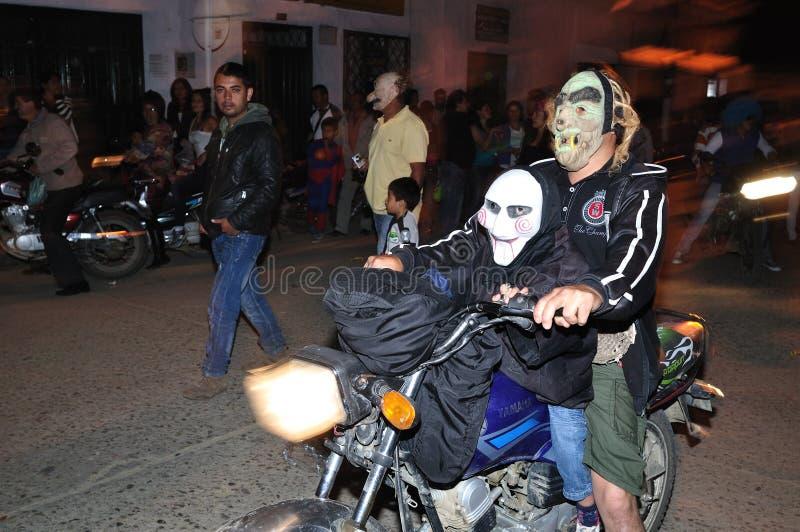 万圣夜在圣阿古斯丁-哥伦比亚 库存照片