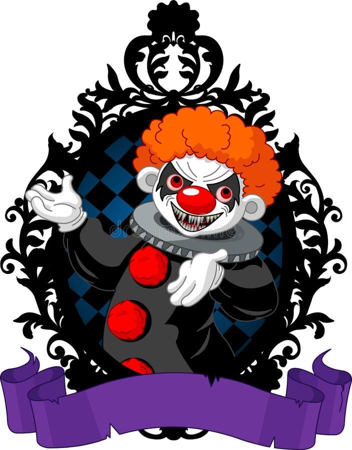 万圣夜小丑 库存例证
