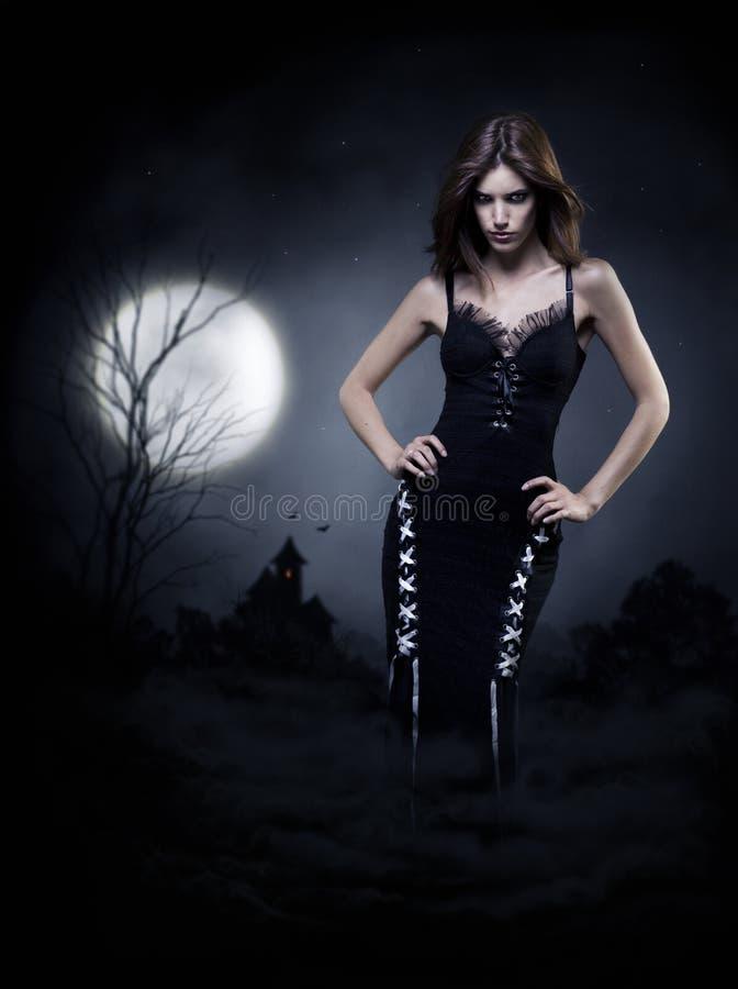 万圣夜巫婆 库存照片