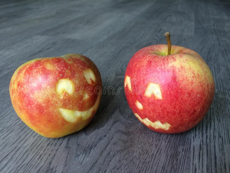 万圣夜用苹果 免版税库存照片