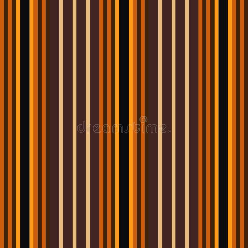 万圣夜葡萄酒橙色和奶油色镶边连续的无缝的织品或墙纸背景 皇族释放例证