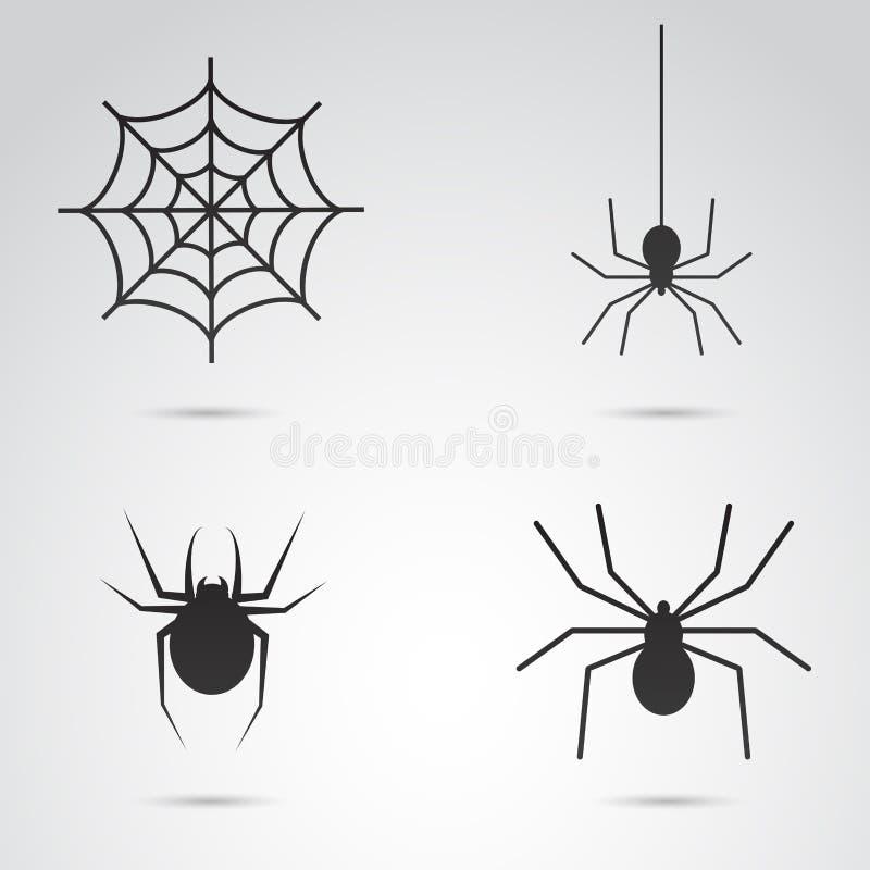 万圣夜蜘蛛传染媒介象集合 库存照片