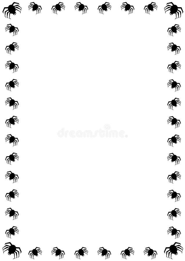 万圣夜蜘蛛边界 库存照片