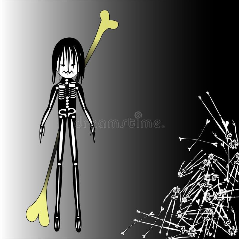 万圣夜邪恶的男孩字符 图库摄影