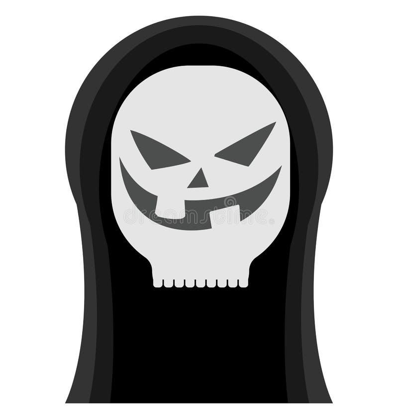 万圣夜鬼魂,可怕颜色隔绝了可以容易地是编辑的传染媒介象或修改了 向量例证