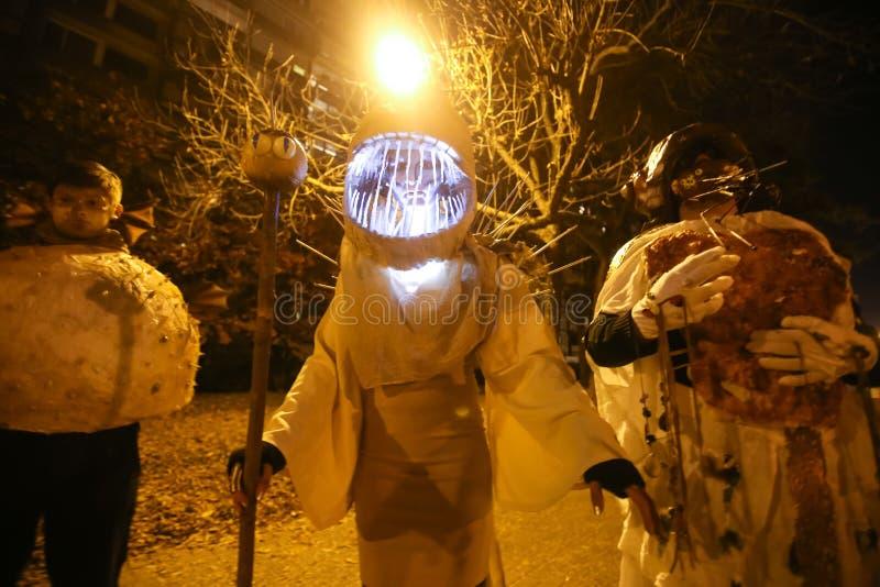 万圣夜,萨格勒布,克罗地亚 免版税库存图片