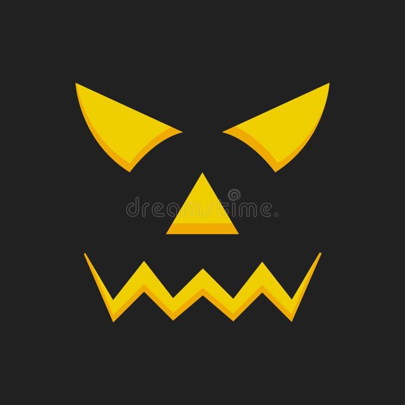 Halloween pumpkin icon Pumpkin, ghost, scary house 矢量万圣节插图 Vector halloween concept 库存例证