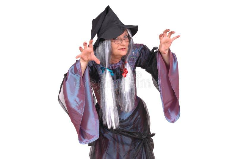 万圣节巫婆 免版税库存图片