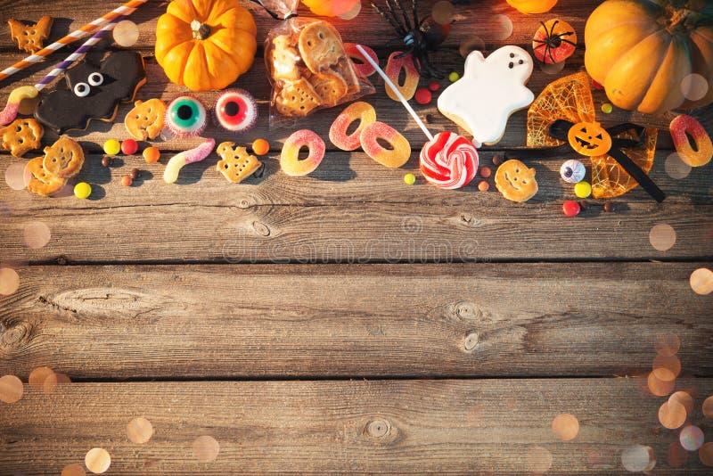 万圣节的甜点 款待窍门 图库摄影