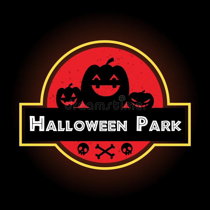 Halloween red label : The laughing pumpkins 库存例证