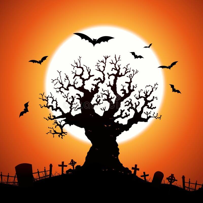 万圣节结构树 向量例证