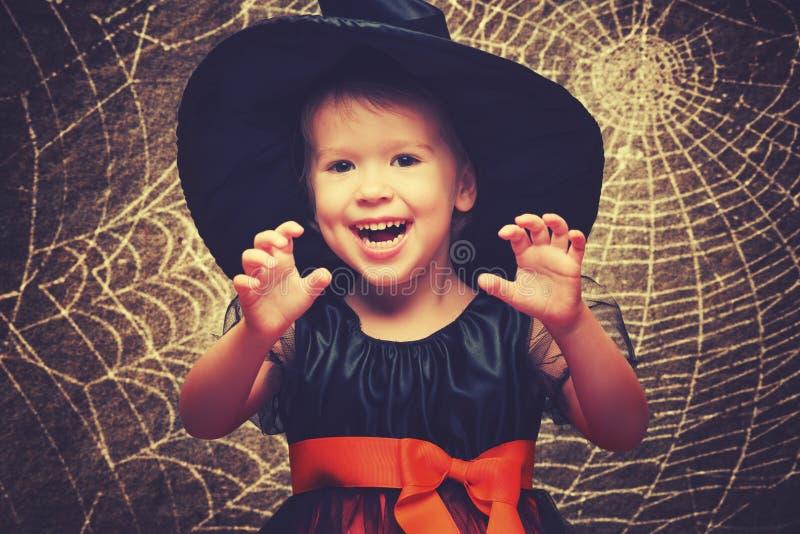 万圣节 滑稽的矮小的巫婆 免版税库存照片