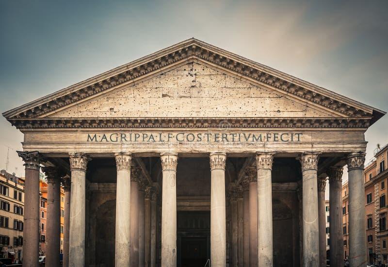 万神殿在罗马,意大利 免版税库存图片