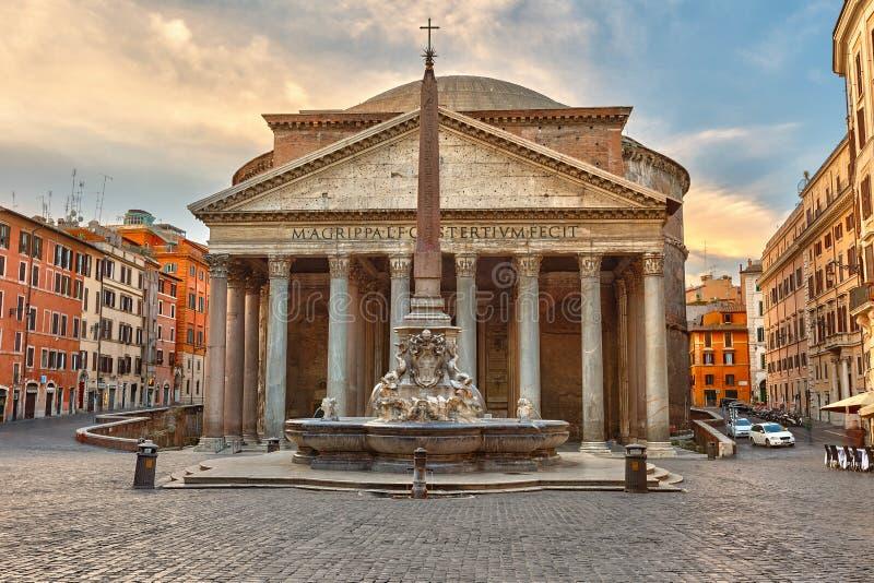 万神殿在罗马,意大利 库存照片