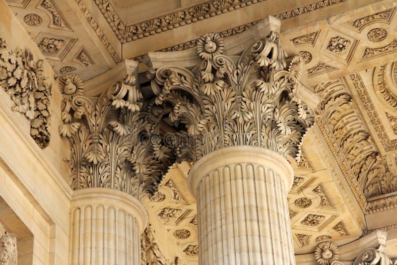 万神殿在巴黎,法国 免版税库存图片