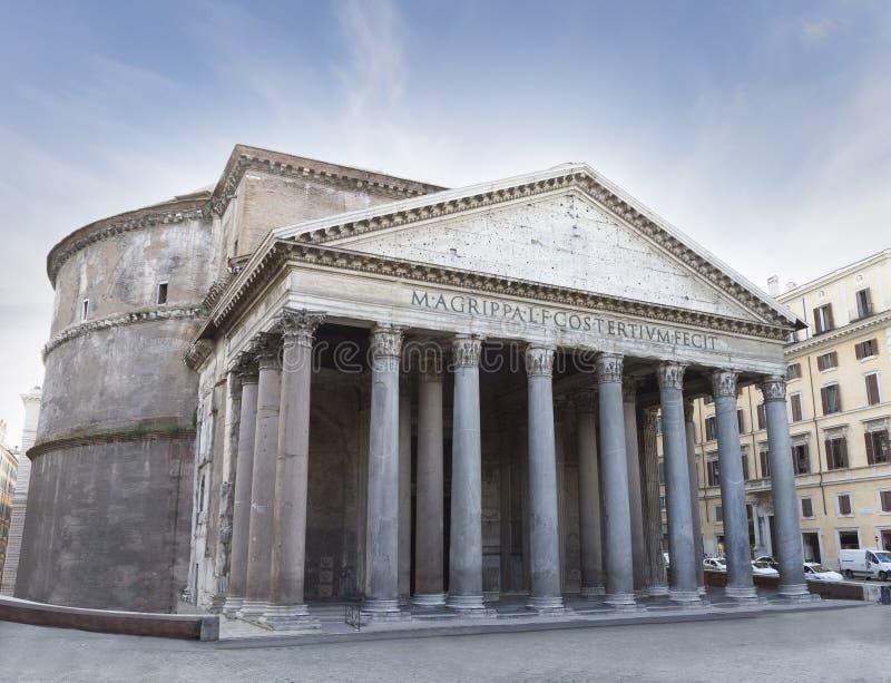 万神殿寺庙,罗马,意大利。 免版税库存图片