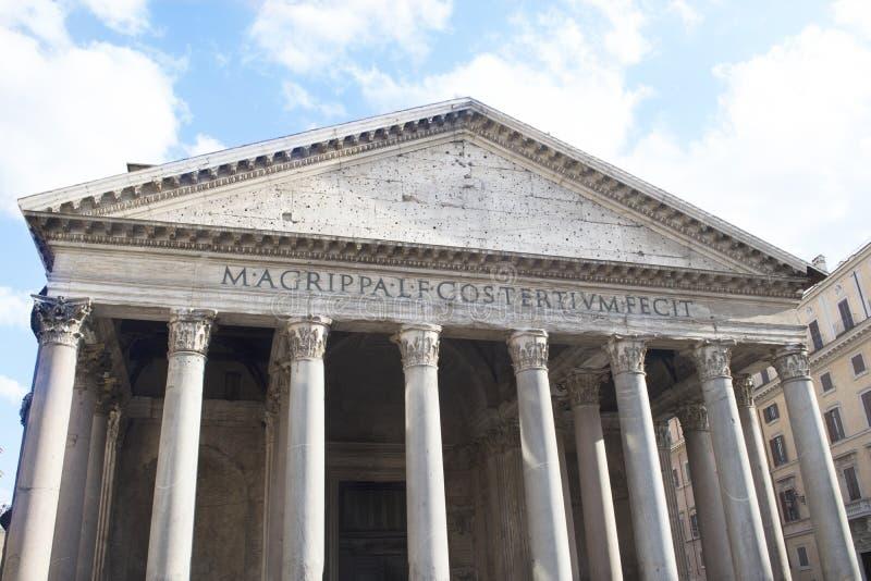 万神殿的细节在罗马 图库摄影