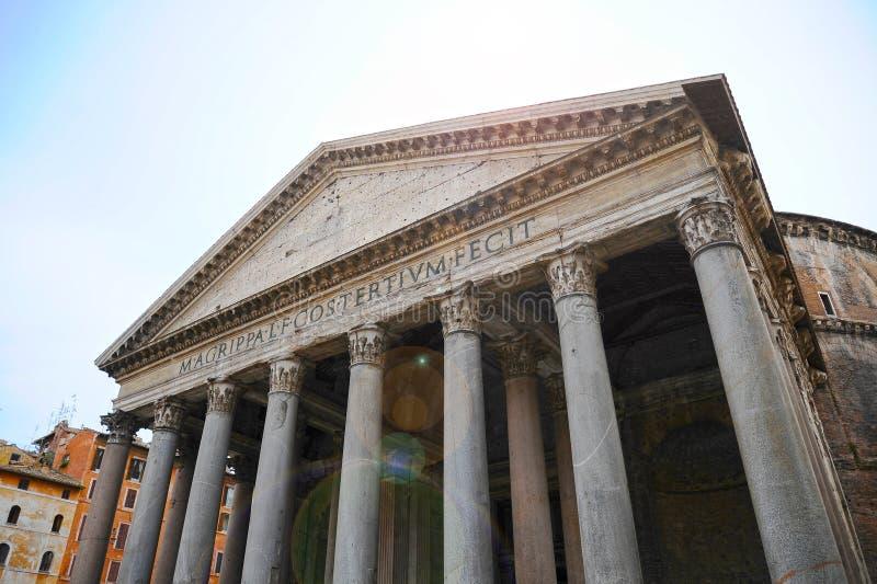 万神殿,所有神古庙  最保存良好的古老对象在罗马 意大利 库存照片