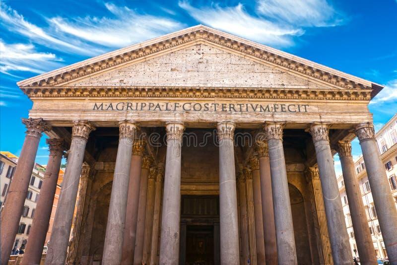 万神殿,罗马,意大利。 库存照片