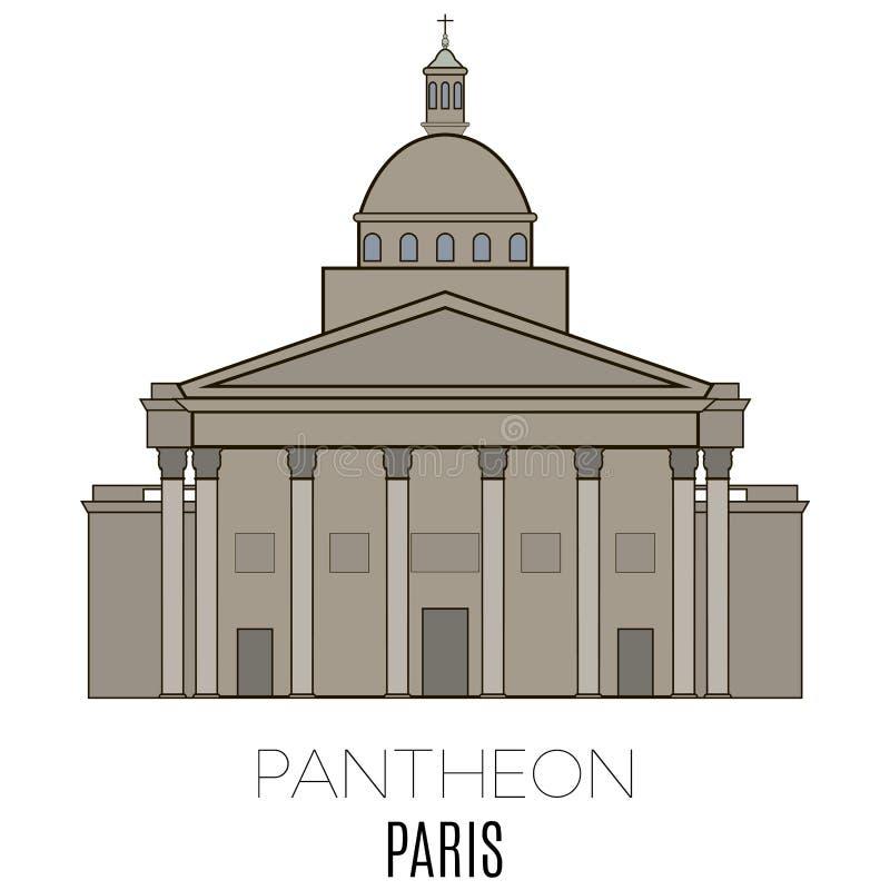 万神殿巴黎 向量例证