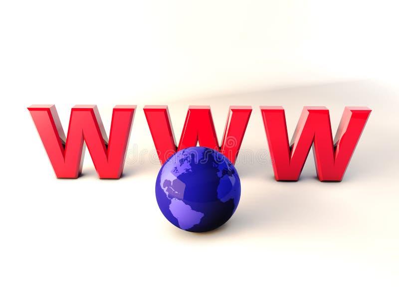 万维网世界3d 向量例证