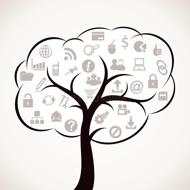 万维网图标结构树 向量例证