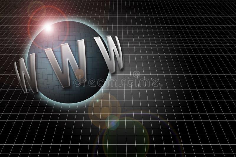 万维网宽世界 库存例证