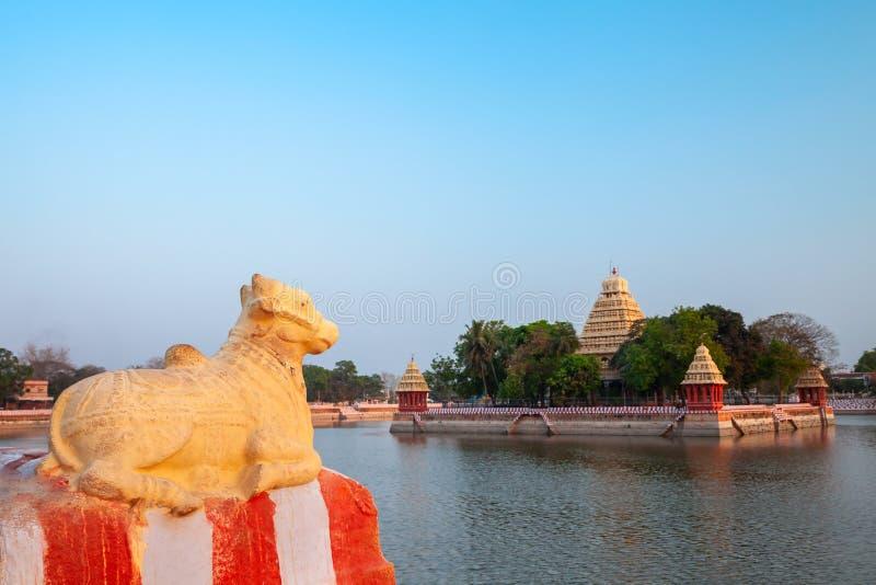 万迪尤尔Mariamman寺庙在马杜赖 库存图片