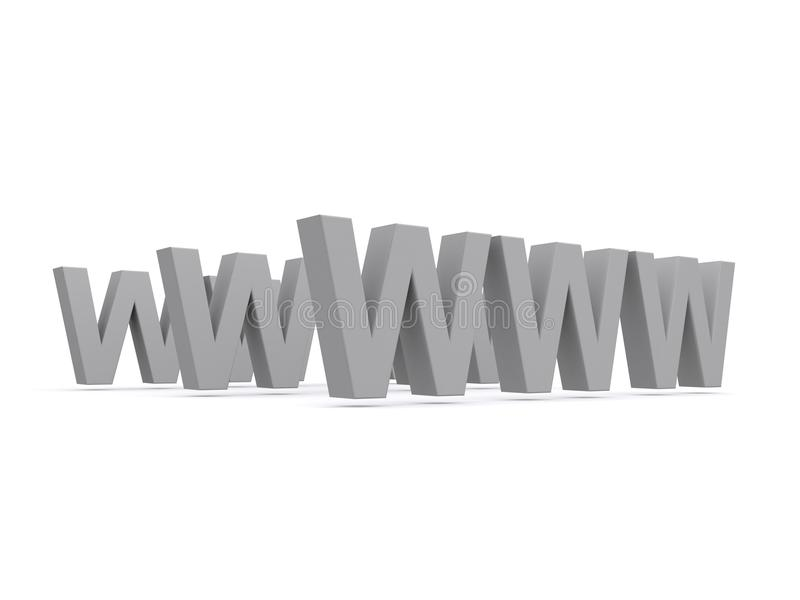 万维网宽世界 向量例证
