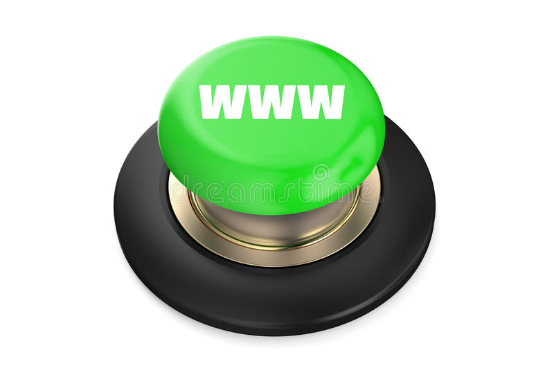 万维网绿色按钮 向量例证