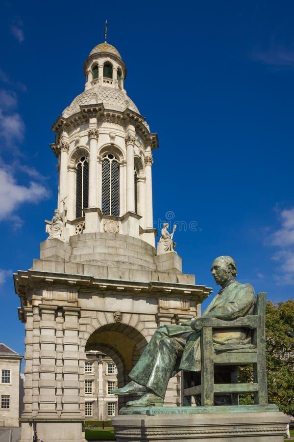 三一学院 钟楼 都伯林 爱尔兰 库存照片