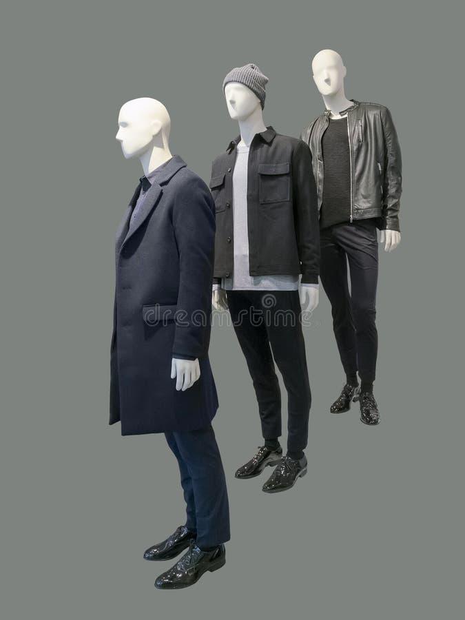 三个人时装模特 免版税库存图片