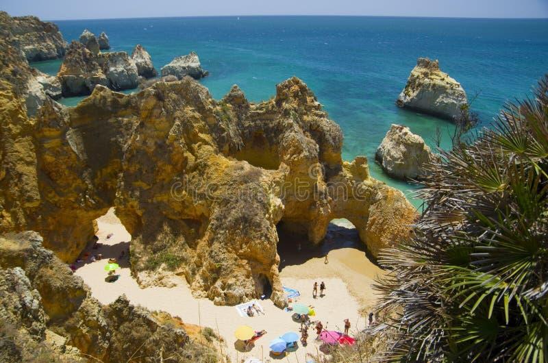 三个兄弟普腊亚dos特雷斯Irmaos的海滩 库存图片