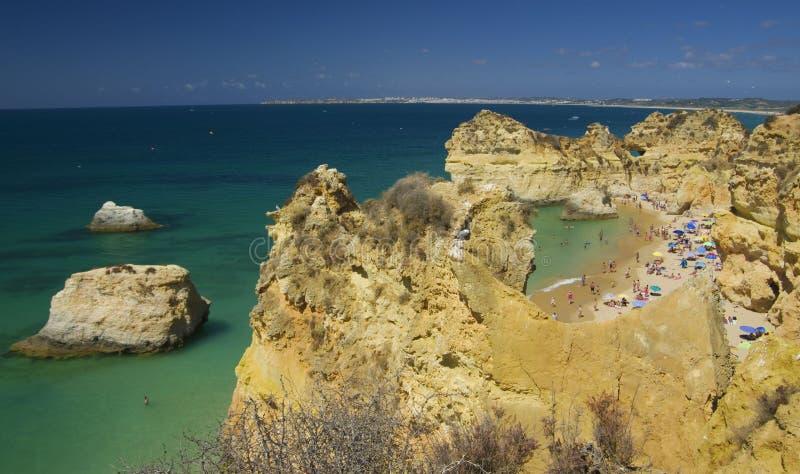 三个兄弟普腊亚dos特雷斯Irmaos的海滩 免版税库存图片