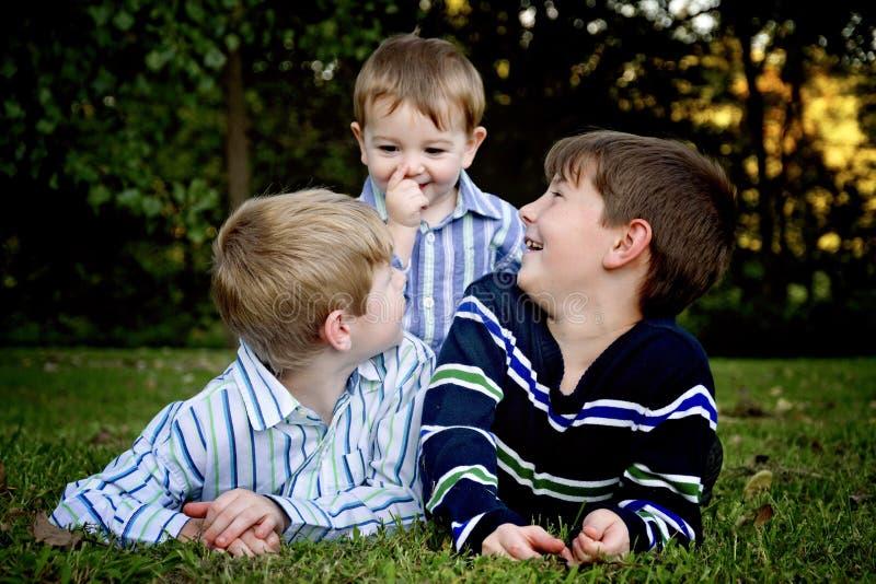 三个兄弟画象 库存图片