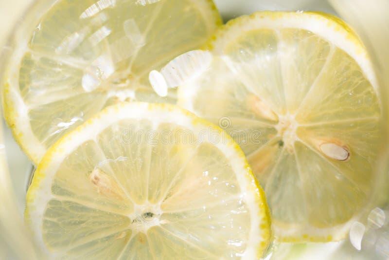 三个切片柠檬 免版税图库摄影