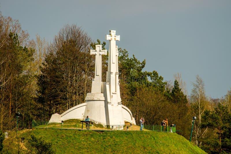 三个十字架小山在维尔纽斯 库存照片