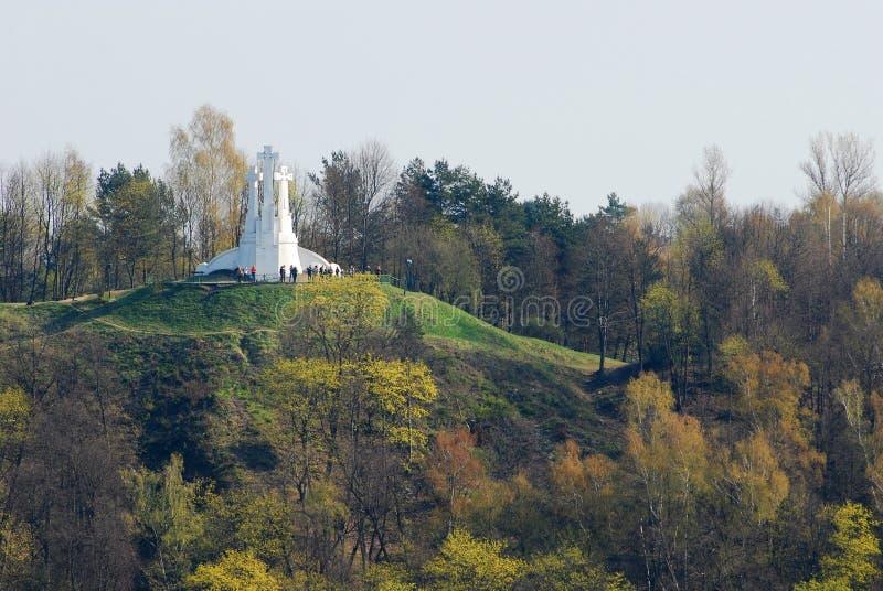 三个十字架小山在维尔纽斯 免版税库存图片