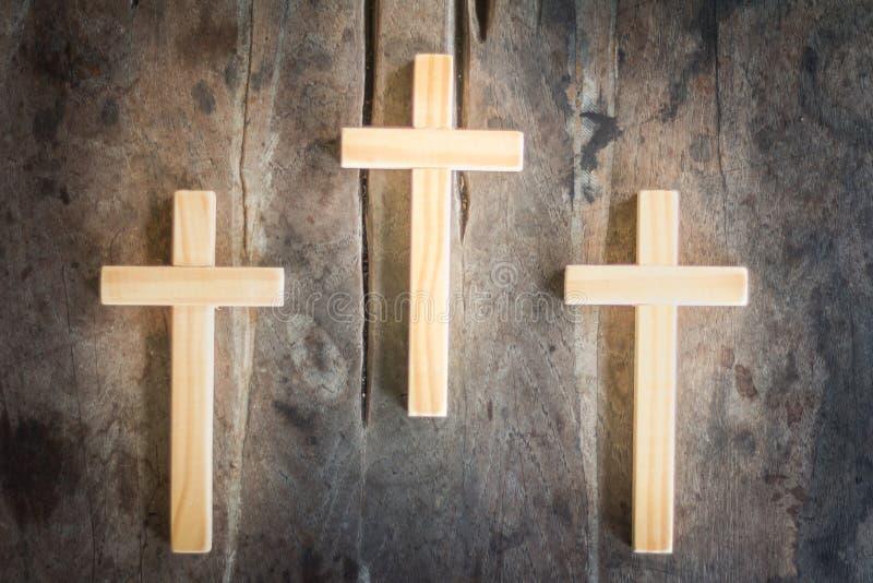 三个十字架的背景图象 图库摄影
